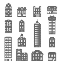 House Icons Black vector image