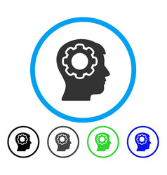 human mind rounded icon vector image