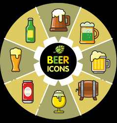 infographic food icons beer alcohol vector image