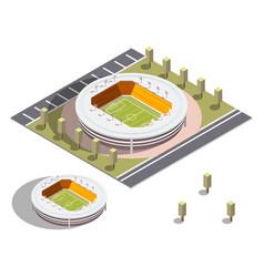 isometric stadium isometric series vector image vector image
