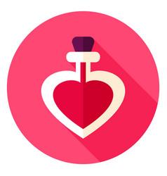 love potion circle icon vector image
