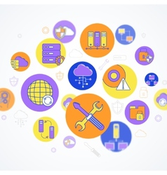 Network and server concept vector