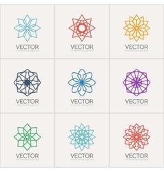 ornamental symbols vector image
