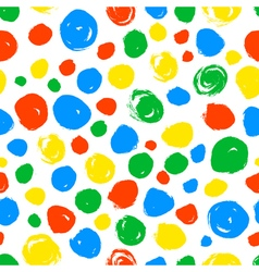 Polka dot seamless pattern hand drawn artistic vector