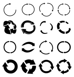 Reload recycle icons set vector image vector image