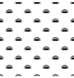 Round garage pattern simple style vector