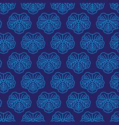 Seamless pattern japanise blue ornament vector
