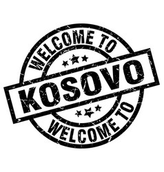 Welcome to kosovo black stamp vector