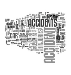 what to do when you get into an accident text vector image vector image
