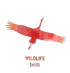 Wildlife banner - bird stork vector