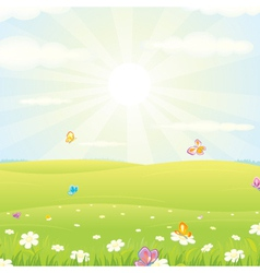 Summer meadow background vector