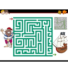Maze activity game vector