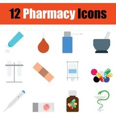 Pharmacy icon set vector image