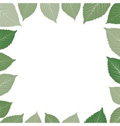 frame with green leaf vector image