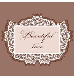 lace invitation vector image