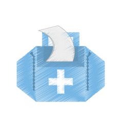 Drawing first aid kit case vector