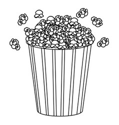 Movie pop corn icon vector