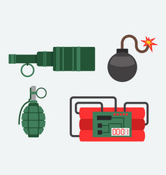 Bomb and dynamite weapon vector