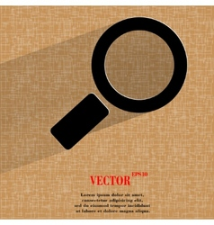 Search magnifier flat modern web design on a flat vector