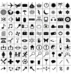 Misc icons vector
