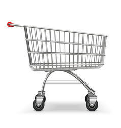 Supermarket trolley vector
