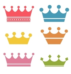 Crown set vector