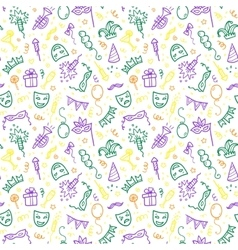 Green yellow and violet carnival symbols in vector