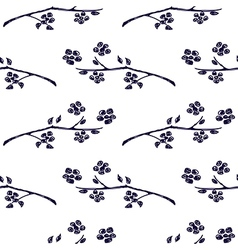 Seamless pattern with branches with leaves vector