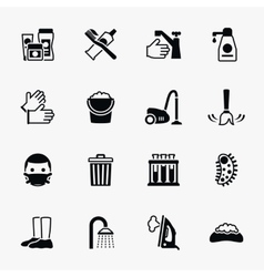 Sanitation and health flat icons set vector