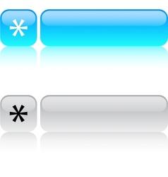 Asterisk square button vector image