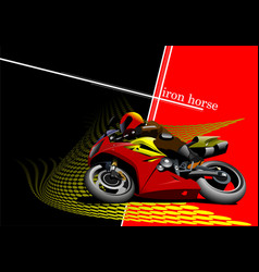 Abstract background with motorcycle image vector
