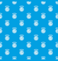 compass pattern seamless blue vector image
