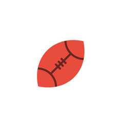 Flat rugby element of flat vector