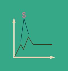 Flat web icon on stylish background monetary vector