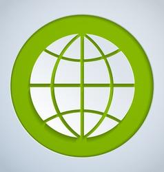 Globe paper green vector
