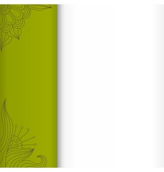 Green background with floral elements eps10 vector image