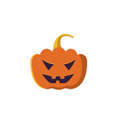 Halloween pumpkin icon isolated on white vector