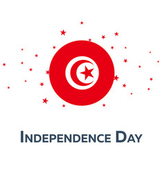 independence day of tunisia and tobago patriotic vector image