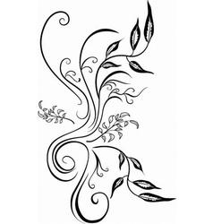 leaf art vector image