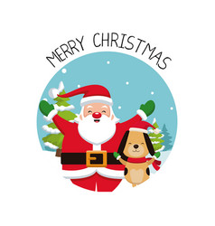Merry chrismtas card cartoon vector