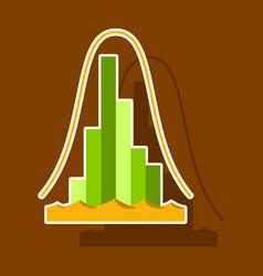 Paper sticker on theme arabic business economic vector