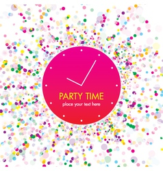 Party time card vector