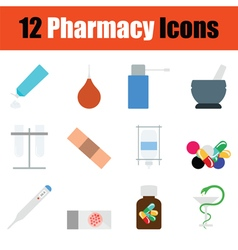 Pharmacy icon set vector image vector image
