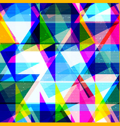psychedelic geometric seamless texture vector image vector image