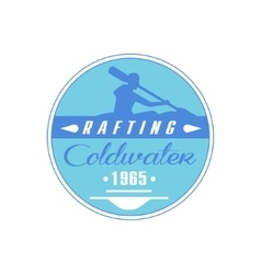 Rafting coldwater blue emblem design vector