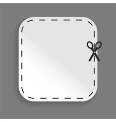 scissors cutting sticker vector image vector image