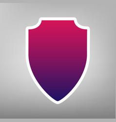 Shield sign purple gradient vector