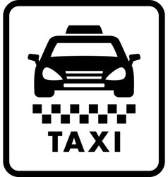 taxi car on white cab icon vector image vector image