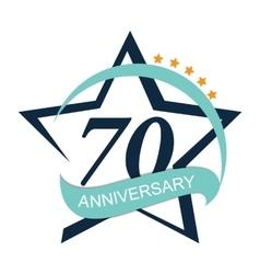 Template logo 70 anniversary vector