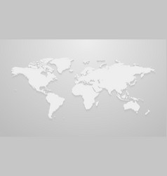 world map mockup for infographics on the gray vector image